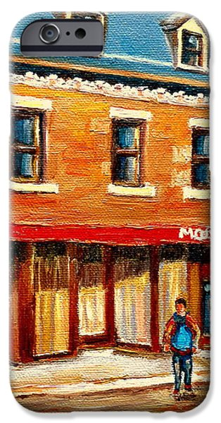 MOISHES THE PLACE FOR STEAKS iPhone Case by CAROLE SPANDAU