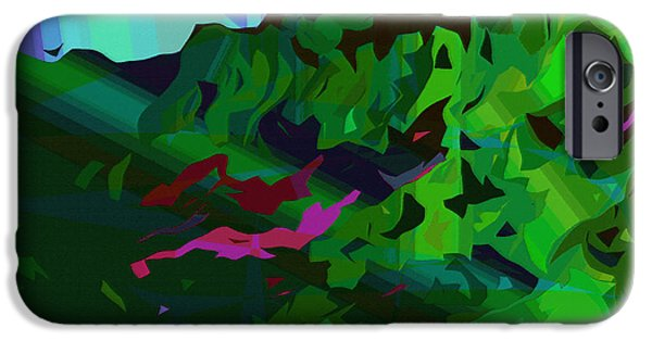 Concept Art iPhone Cases - Moku18 iPhone Case by Kenneth Grzesik