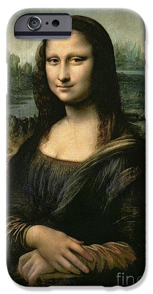 Portrait iPhone Cases - Mona Lisa iPhone Case by Leonardo da Vinci