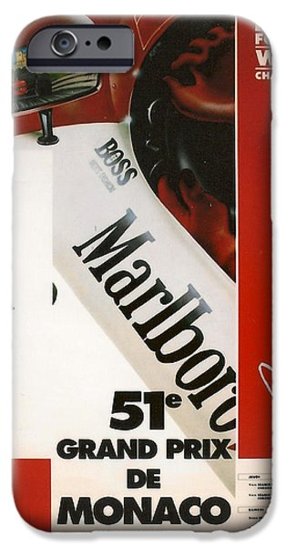 Ayrton Senna iPhone Cases - Monaco F1 1993 iPhone Case by Nomad Art And  Design