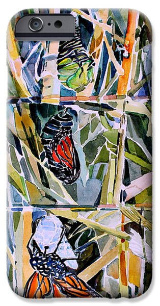 Miracle iPhone Cases - Monarch Butterfly Life Cycle iPhone Case by Mindy Newman