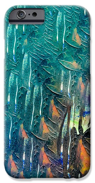 Abstract Digital Mixed Media iPhone Cases - Monarch in the Trees iPhone Case by Laura L Leatherwood