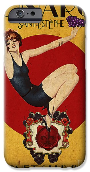 Wines iPhone Cases - Monarch Wine a vintage style ad iPhone Case by Cinema Photography