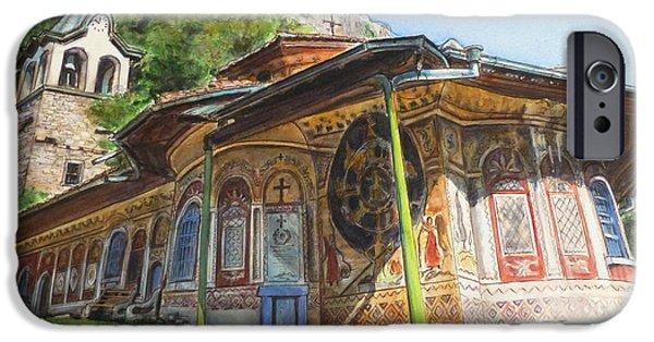 Orthodox Paintings iPhone Cases - Monastery of The Holy Transfiguration of God  Bulgaria iPhone Case by Henrieta Maneva