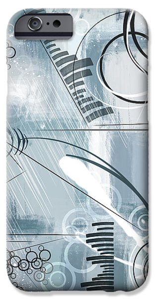 Abstract Digital Mixed Media iPhone Cases - Monday iPhone Case by Melissa Smith