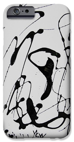 Abstract Expressionism iPhone Cases - Mondays Freedom and Texture iPhone Case by Mary Carol Williams