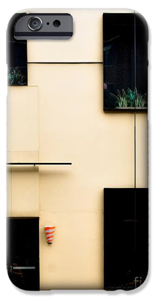 Neo-plasticism iPhone Cases - Mondrianic Fascade iPhone Case by James Aiken