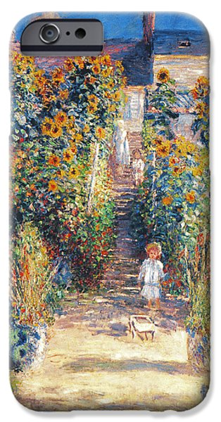 19th Century iPhone Cases - Monet: Garden/vetheuil iPhone Case by Granger
