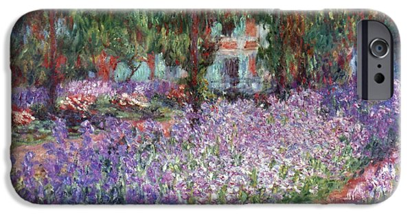 Flower Gardens Photographs iPhone Cases - Monet: Giverny, 1900 iPhone Case by Granger