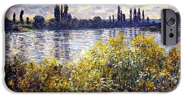 Vetheuil Photographs iPhone Cases - Monet: Seine/vetheil, 1880 iPhone Case by Granger