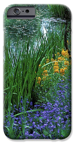 Monet's Lily Pond iPhone Case by Kathy Yates