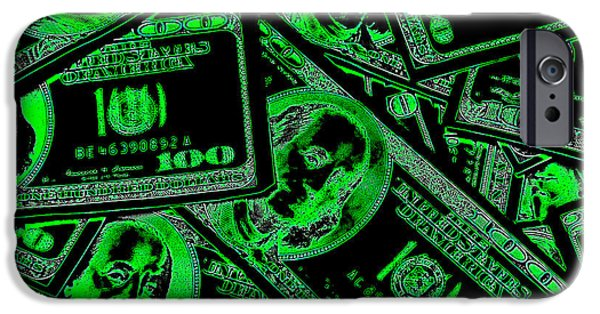 Global Greens iPhone Cases - Money Money Money iPhone Case by Michael Ledray