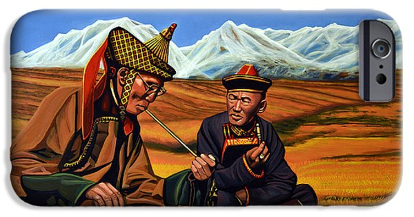 Smoking iPhone Cases - Mongolia Land of the Eternal Blue Sky iPhone Case by Paul Meijering