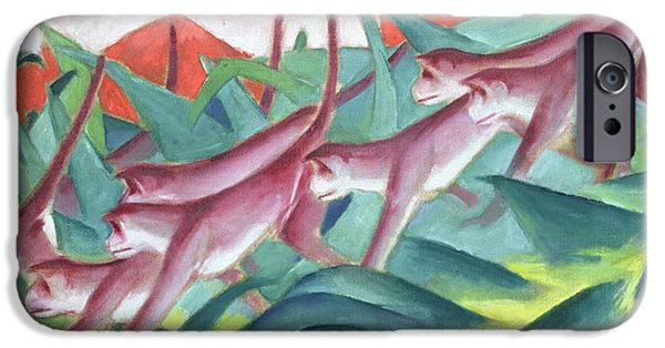 Ape iPhone Cases - Monkey Frieze iPhone Case by Franz Marc