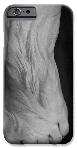 Surrealism Pyrography iPhone Cases - Monkeyfoot iPhone Case by Mariah Allen