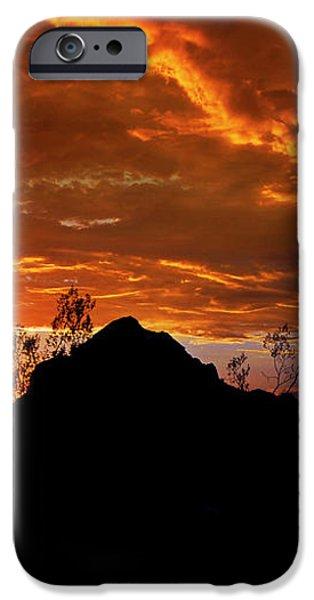 Monsoon Sunset  iPhone Case by Saija  Lehtonen