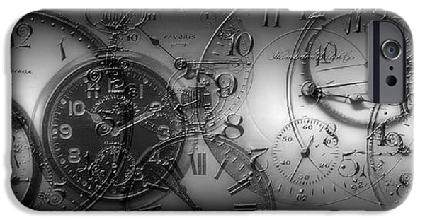 The Clock iPhone Cases - Montage Of Old Pocket Watches iPhone Case by Panoramic Images