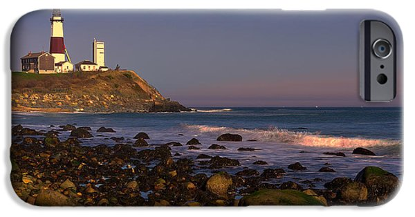 Lighthouse iPhone Cases - Montauk Lighthouse iPhone Case by William Jobes