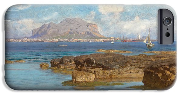 Marine iPhone Cases - Monte Pellegrino  Palermo Sicily iPhone Case by Francesco Lojacano