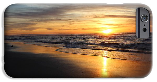 Ocean Sunset iPhone Cases - Monterey Bay Sunset iPhone Case by Larry  Daeumler