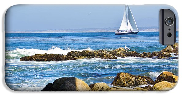 Sailing iPhone Cases - Monterey Sailing iPhone Case by Ava Peterson
