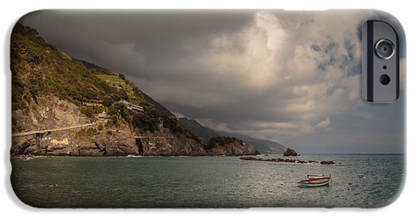 Beach iPhone Cases - Monterosso harbour area iPhone Case by Chris Fletcher