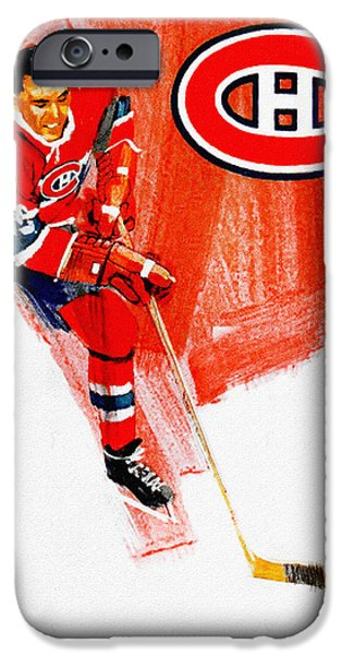 Hockey Paintings iPhone Cases - Montreal Canadiens 1968-69 Program iPhone Case by Big 88 Artworks