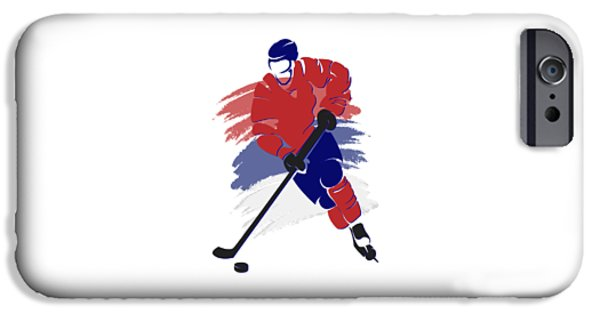 Montreal Canadiens iPhone Cases - Montreal Canadiens Player Shirt iPhone Case by Joe Hamilton
