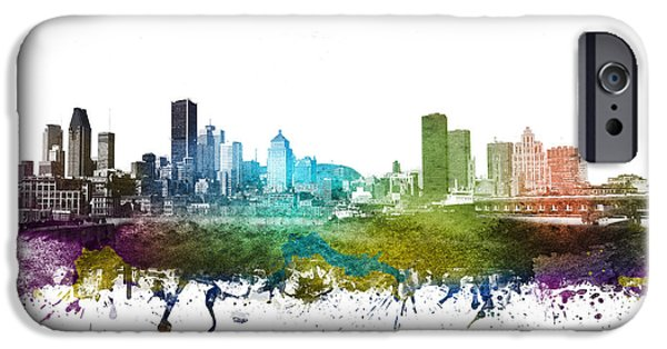 Montreal iPhone Cases - Montreal cityscape 01 iPhone Case by Aged Pixel