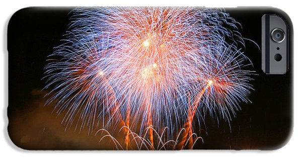 Fireworks Photographs iPhone Cases - Montreal Fireworks Celebration  iPhone Case by Pierre Leclerc Photography