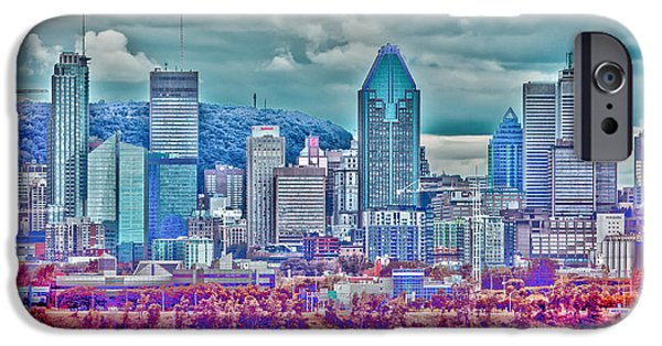 Buildings iPhone Cases - Montreal overview iPhone Case by Claudia Mottram