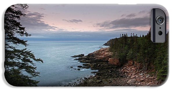 Maine Roads iPhone Cases - Monument Cove Maine Acadia National Park iPhone Case by Juergen Roth