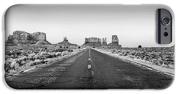 Highway iPhone Cases - Freedom BW iPhone Case by Az Jackson