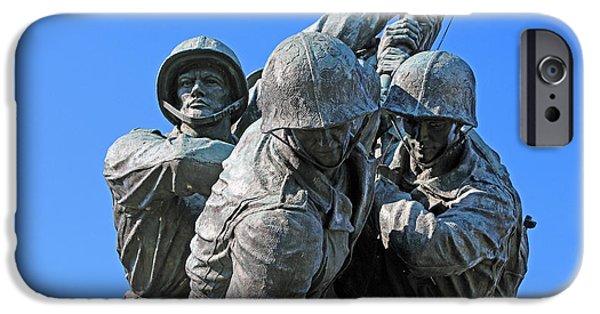 Cora Wandel iPhone Cases - Monuments Men -- The Iwo Jima Memeorial iPhone Case by Cora Wandel
