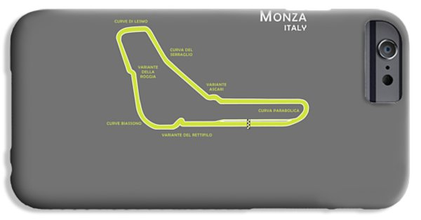 Ayrton Senna iPhone Cases - Monza iPhone Case by Mark Rogan