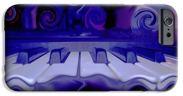 Energy Art Movement iPhone Cases - Moody Blues iPhone Case by Linda Sannuti