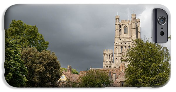 Tall Ship iPhone Cases - Moody sky over Ely. iPhone Case by Katey jane Andrews
