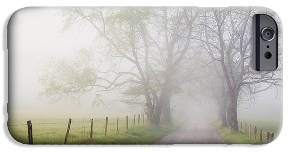 Morning iPhone Cases - Moody Sparks Lane iPhone Case by Harold Stinnette