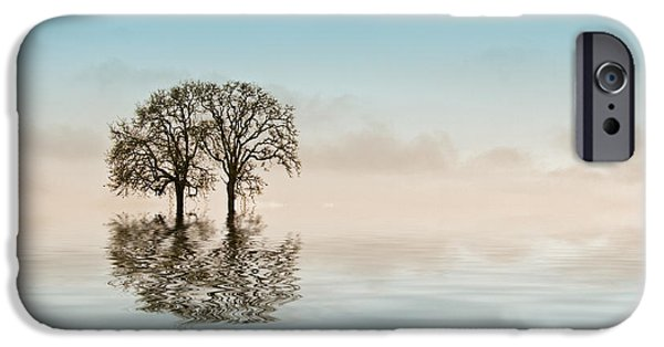 Creative Manipulation iPhone Cases - Moody Trees iPhone Case by Jean Noren