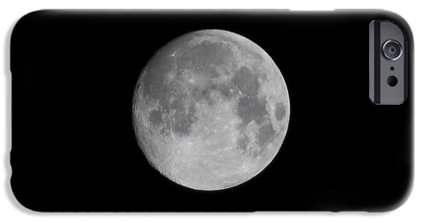 Moon Pyrography iPhone Cases - Moon iPhone Case by Cristofer Zorzetto