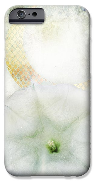 Mosaic iPhone Cases - Moon Flower iPhone Case by Aimee Stewart