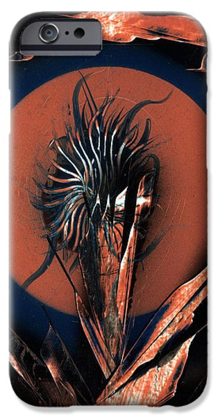 Planetoid Paintings iPhone Cases - Moon Flower iPhone Case by Jason Girard