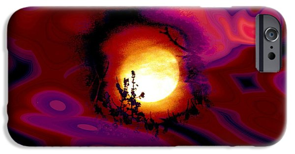 Abstract Expressionist iPhone Cases - Moon Lovers iPhone Case by Stephen  Killeen