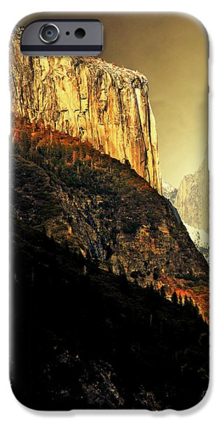 Moon Over Half Dome . Portrait Cut iPhone Case by Wingsdomain Art and Photography