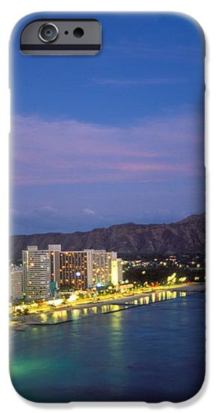 Moon Over Waikiki iPhone Case by William Waterfall - Printscapes