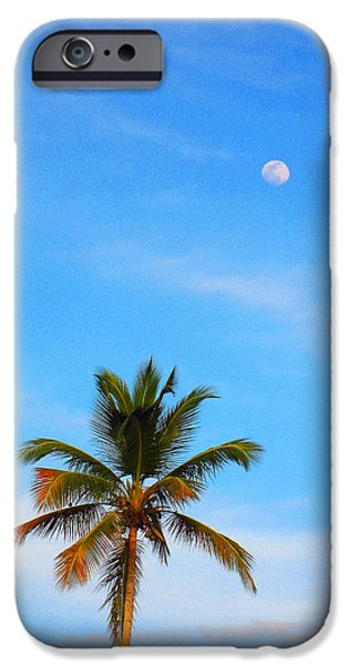 River View iPhone Cases - Moon. Palma. Sky. iPhone Case by Andy Za