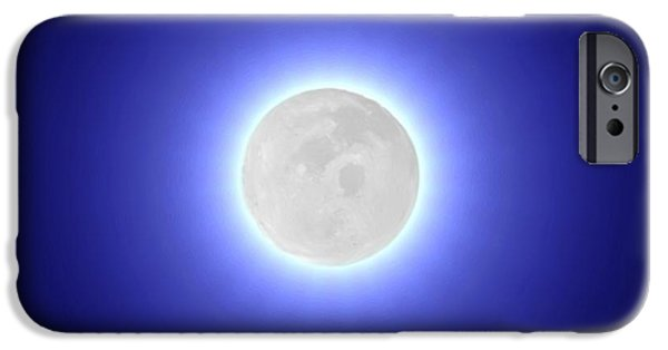 Luminescent iPhone Cases - Moon iPhone Case by Pet Serrano