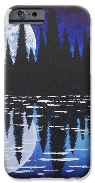 Moon Reflection Over Walden Pond iPhone Case by Tracy Levesque