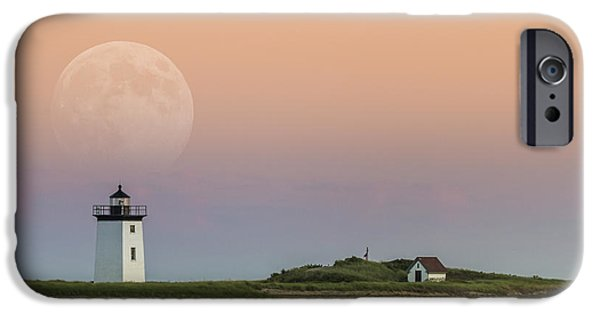 Ocean Sunset Pyrography iPhone Cases - Moon Rise iPhone Case by Paul Rodrigues