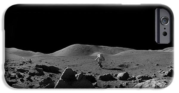Moon Walk iPhone Cases - Moon Walk iPhone Case by Jon Neidert